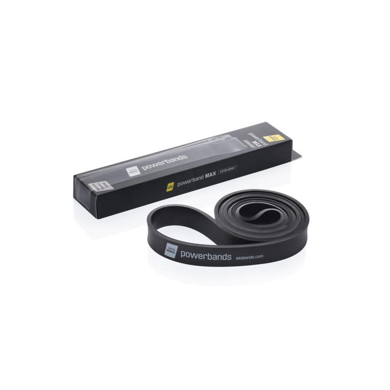 Powerband Guma do ćwiczeń - czarna - bardzo ciężka