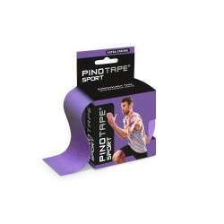 PINO Kinesiology Tape 5cm x 5m sport - fioletowy