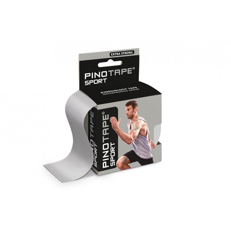 PINO Kinesiology Tape 5cm x 5m sport - srebrny