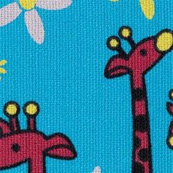 BB Kinesiology Tape - 5cm x 32m - żyrafa niebieski