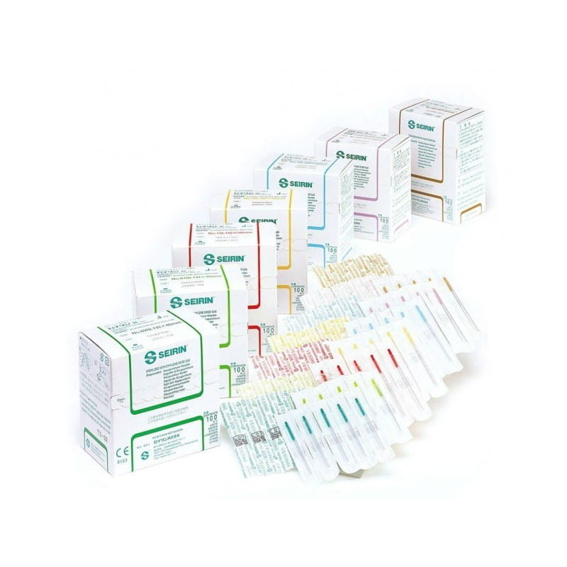 Igły do akupunktury Seirin typ J z plastikowym uchwytem i prowadnicą 100szt.