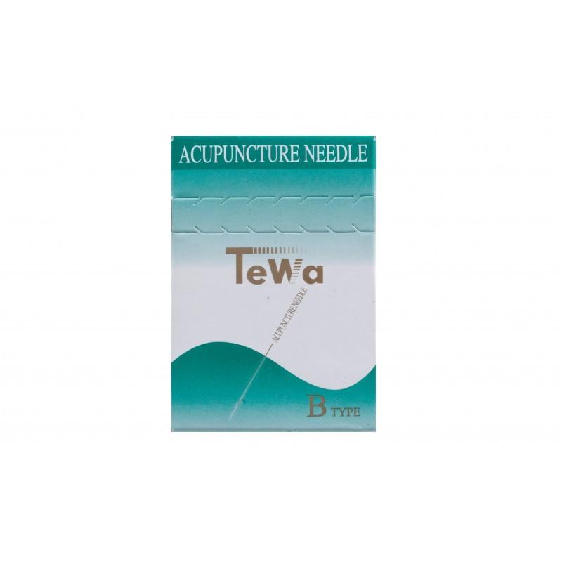 Igły do akupunktury Tewa z miedzianym uchwytem bez prowadnicy silikonowana  100szt.