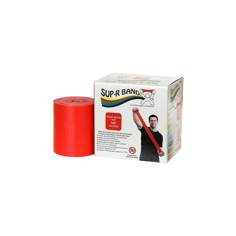 Guma do ćwiczeń Sup-R-Band bezlateksowa czerwona 1m