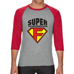 Koszulka męska 3/4 super fizjoterapeuta