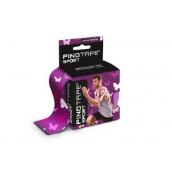 PINO Kinesiology Tape 5cm x 5m sport - fioletowe motyle