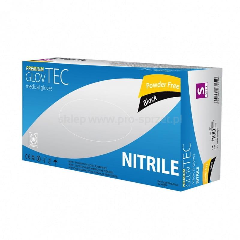 Rękawiczki Nitrylowe 100szt GlovTEC rozmiar S - czarne