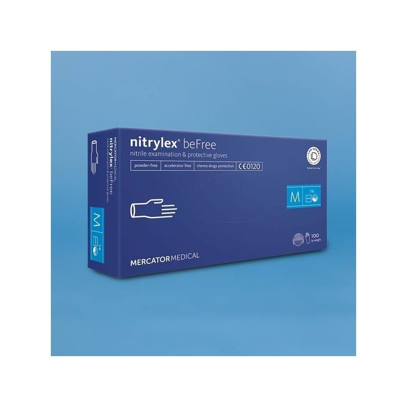 Rękawiczki nitrylowe Nitrylex beFree rozmiar M 100 sztuk