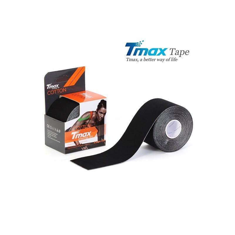 Tmax Kinesiology Tape - plaster elastyczny czarny