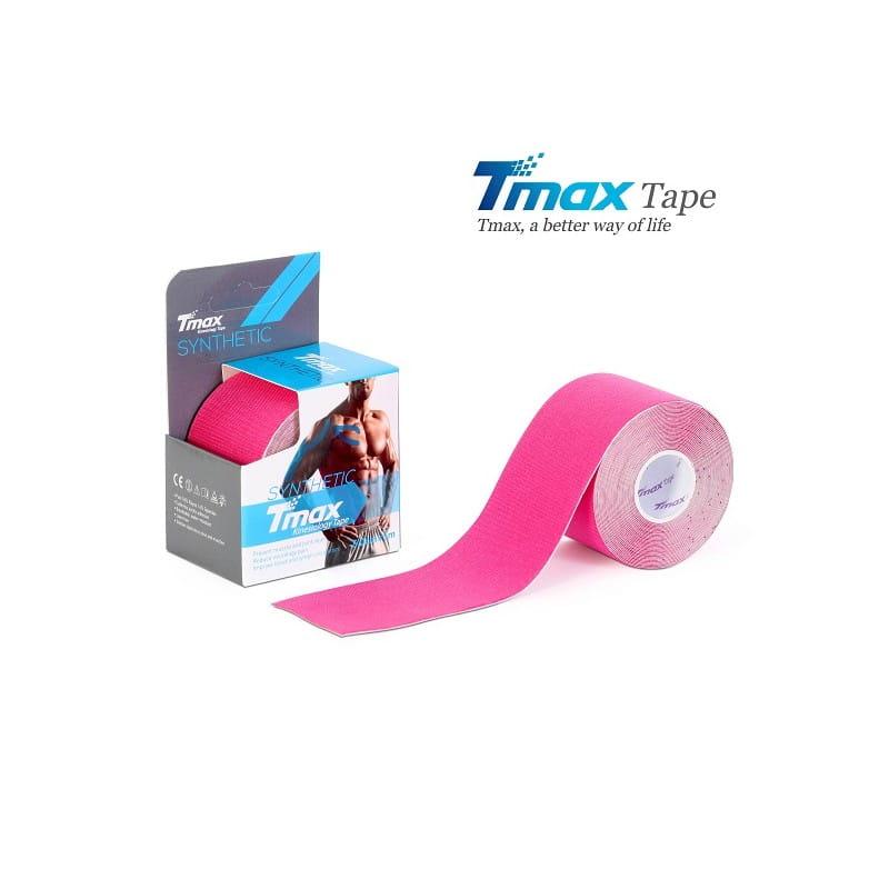 Tmax Kinesiology Tape - plaster elastyczny - synthetic różowy