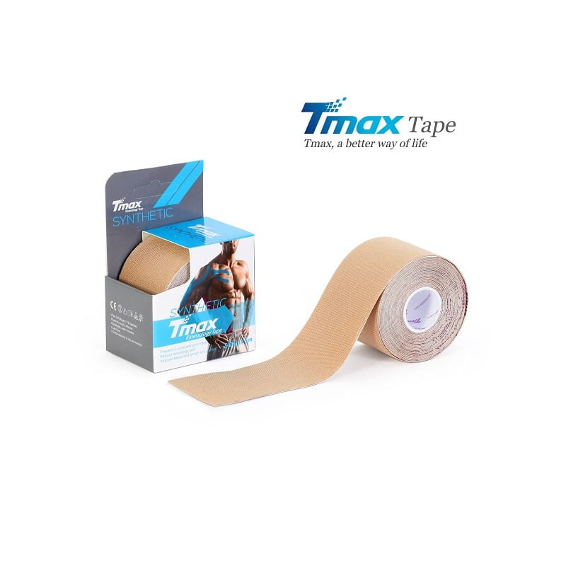 Tmax Kinesiology Tape - plaster elastyczny - synthetic beżowy