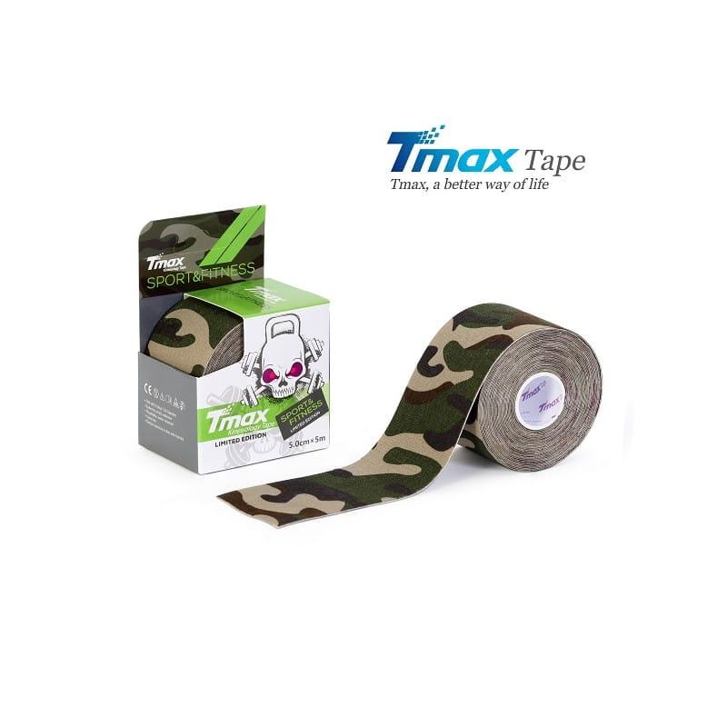 Tmax Kinesiology Tape - plaster elastyczny moro zielony