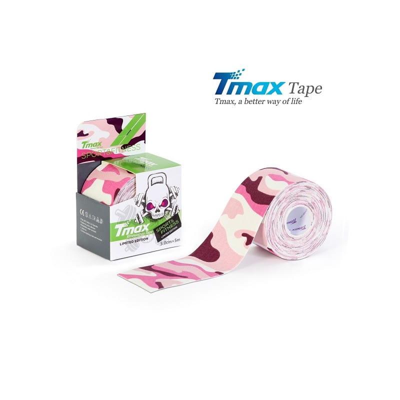 Tmax Kinesiology Tape - plaster elastyczny moro różowy