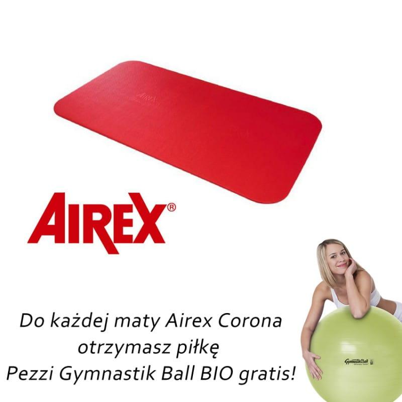 Airex Corona czerwona+ gratis piłka Pezzi Gymnastik Bio Ball + pasek