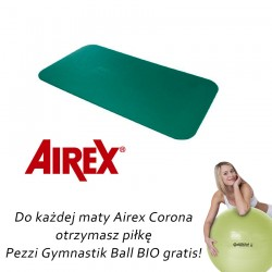 Airex Corona zielona + gratis piłka Pezzi Gymnastik Bio Ball + pasek