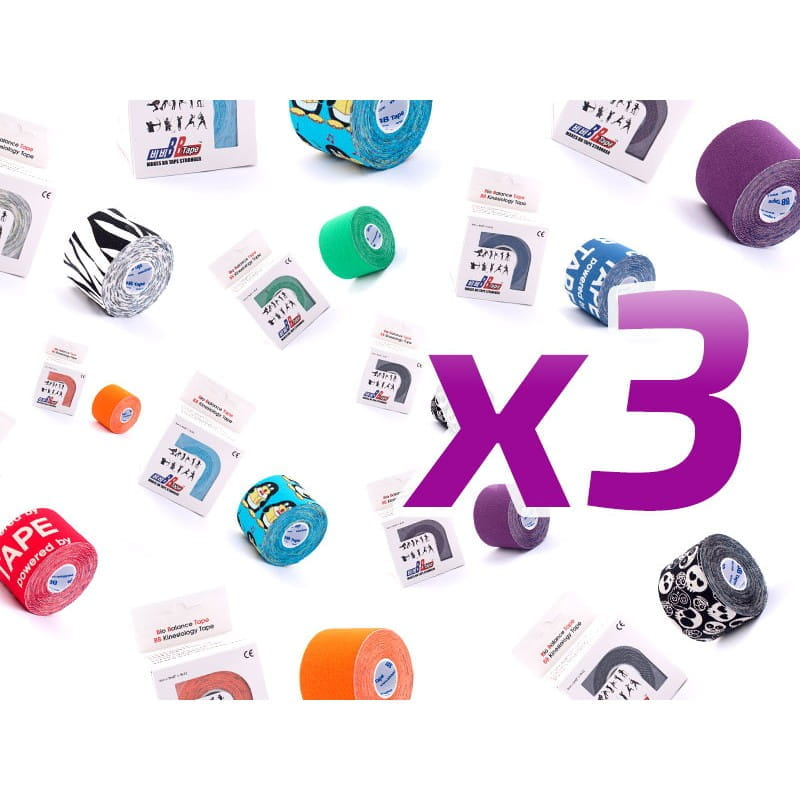 3-pack w super cenie - BB Kinesiology Tape - 5cm x 5m - kolory do wyboru
