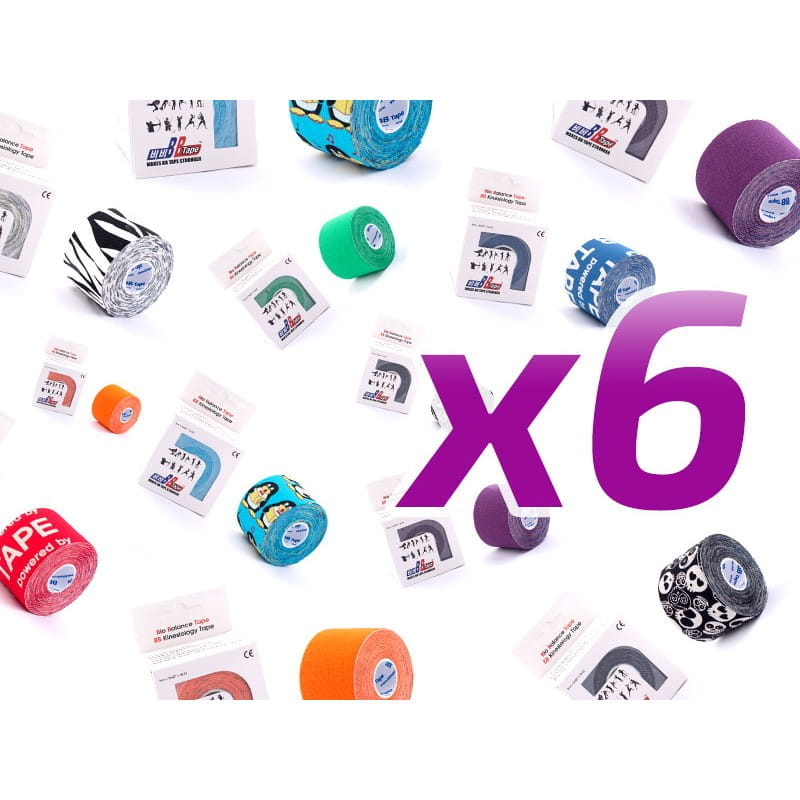 6-pack w super cenie - BB Kinesiology Tape - 5cm x 5m - kolory do wyboru