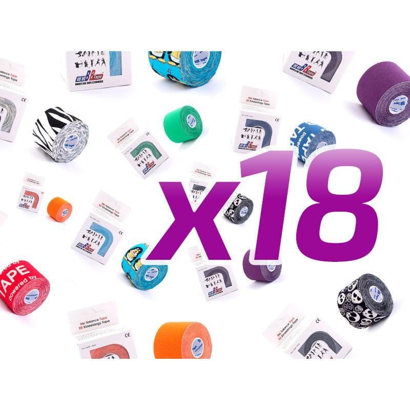 BB Kinesiology Tape - 5cm x 5m - 18 sztuk