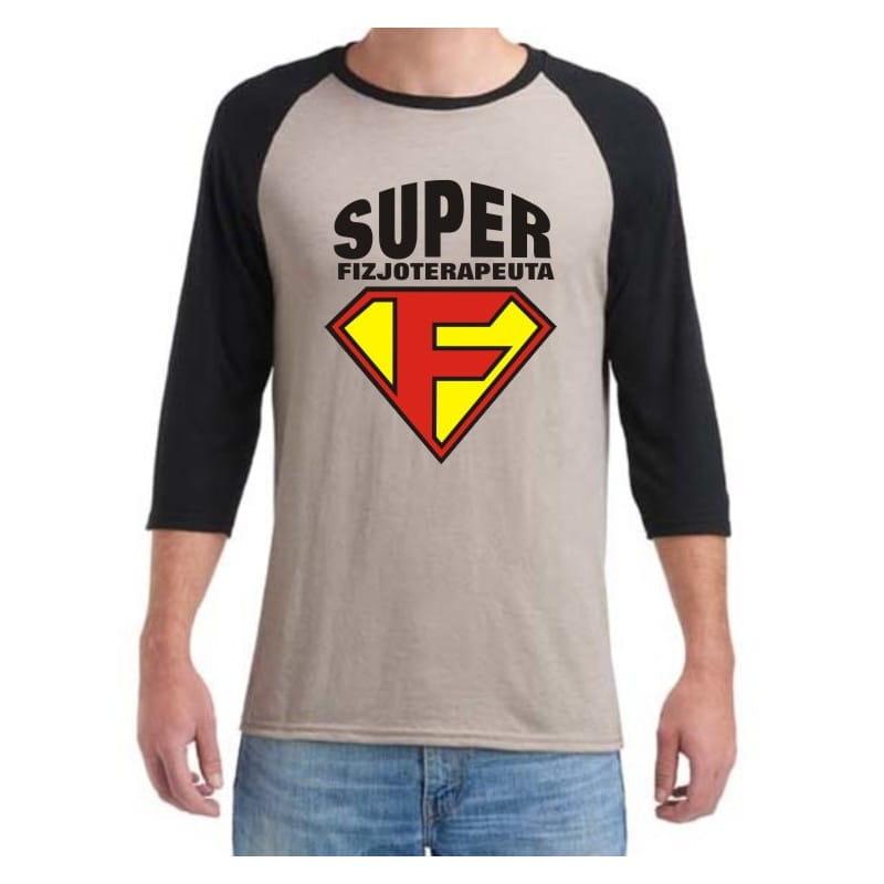 Koszulka męska 3/4 super fizjoterapeuta - różne kolory