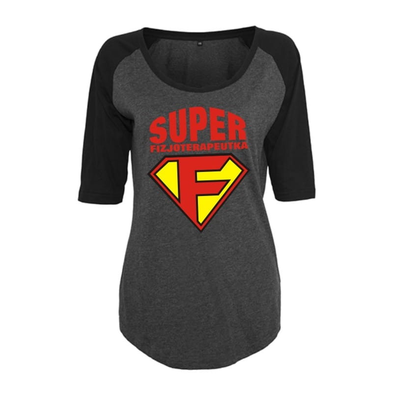 Koszulka damska 3/4 super fizjoterapeutka - różne kolory