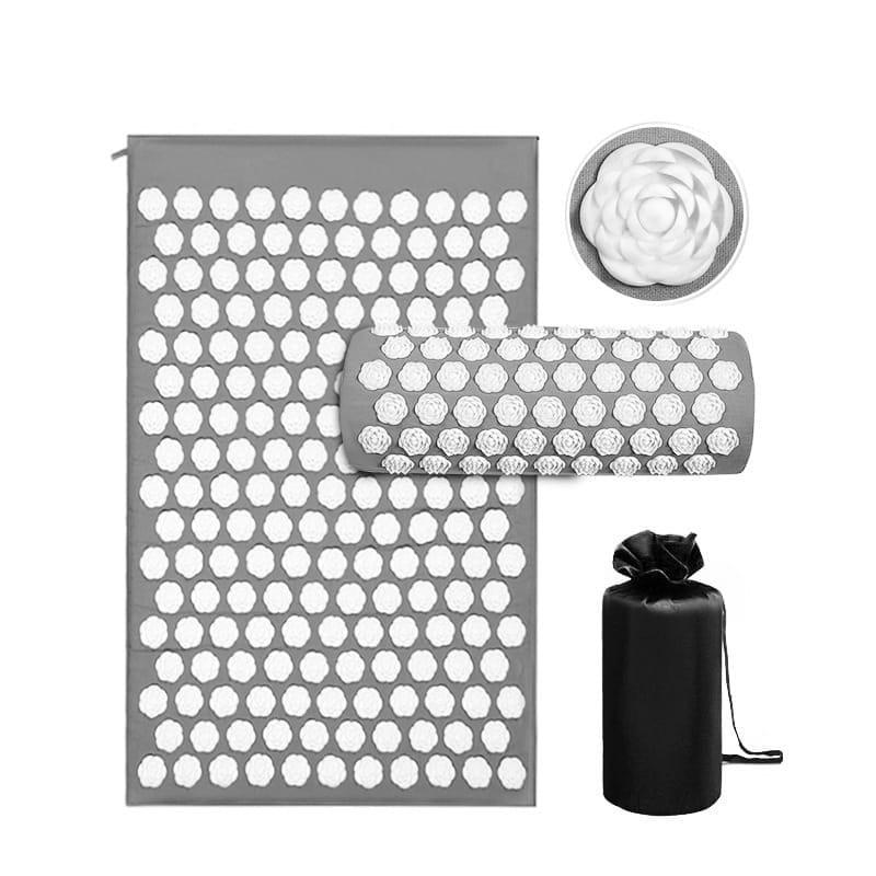Mata do akupresury AccuFlower 68x42x2,6cm + poduszka wałek + pokrowiec - różne kolory