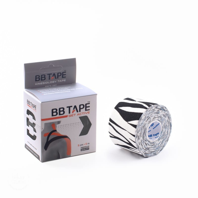 BB Kinesiology Tape 5cm x 5m - zebra