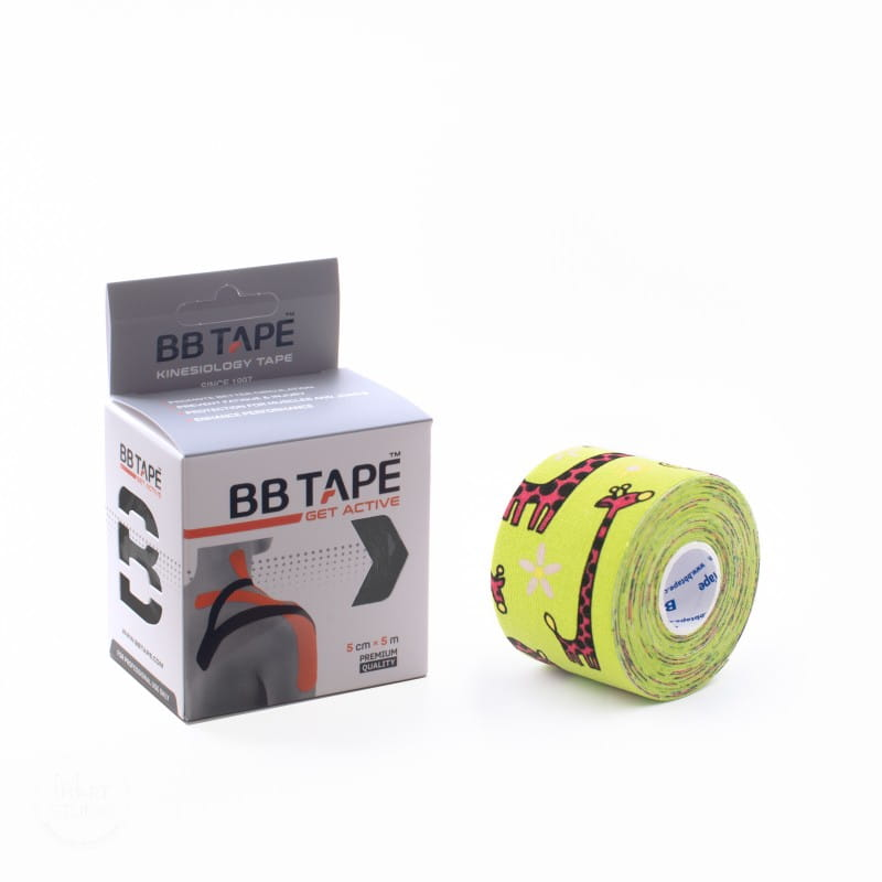 BB Kinesiology Tape 5cm x 5m - żyrafa zielony