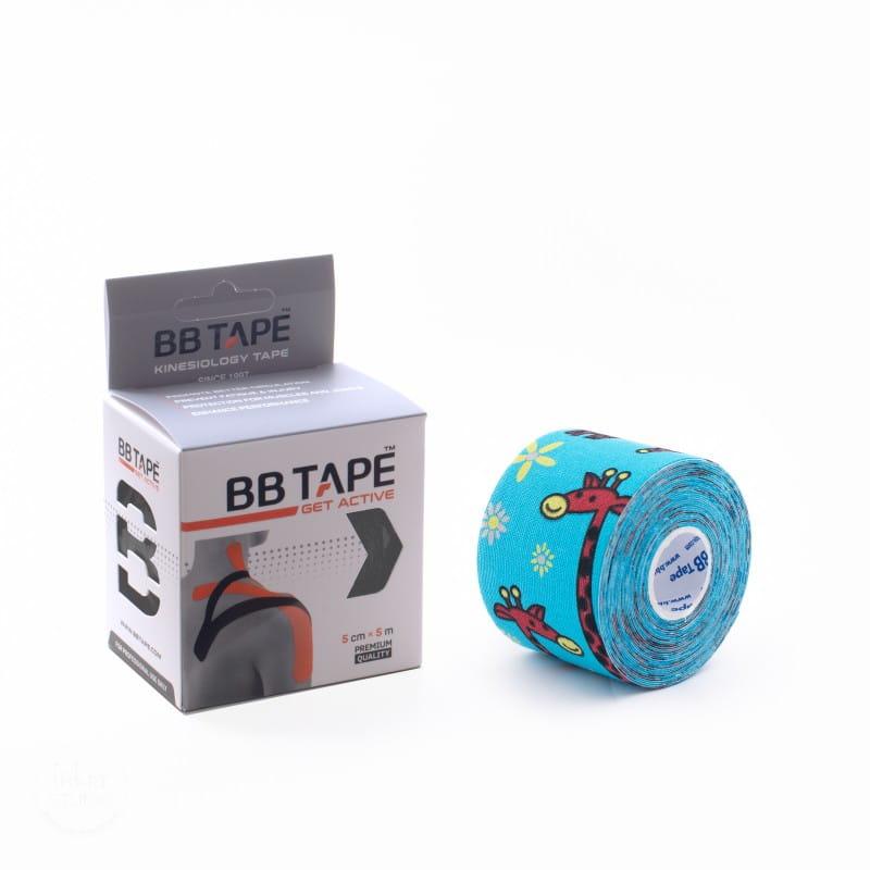 BB Kinesiology Tape 5cm x 5m - żyrafa niebieski
