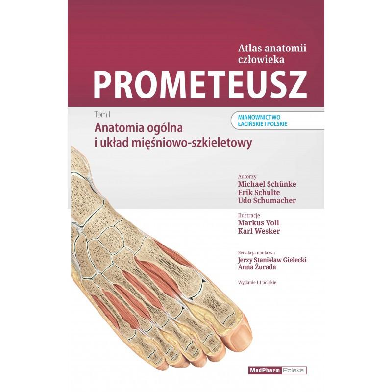 Atlas Anatomii człowieka.Tom I Prometeusz Anatomia ogólna i układ mięśniowo - szkieletowy. Nomenklatura łacińska